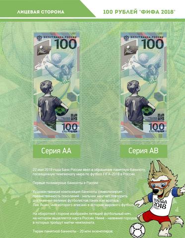 Комплект листов для банкнот ЧМ по футболу FIFA-2018