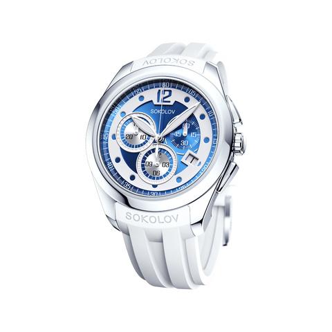 148.30.00.000.05.06.2- Женские серебряные часы SOKOLOV с хронографом