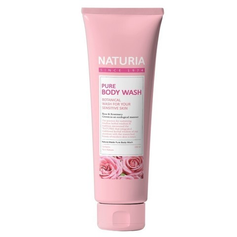Гель для душа РОЗА/РОЗМАРИН NATURIA Pure Body Wash (Rose & Rosemary), 100 мл