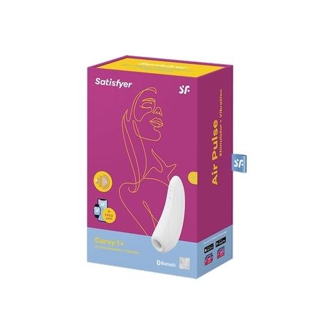 Satisfyer Curvy 1+ Вакуумно-волновой стимулятор с возможностью управления через приложение - белый