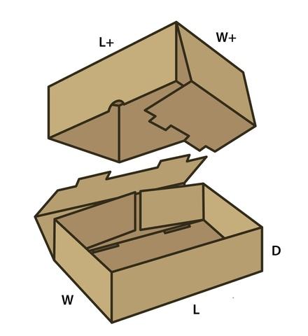 Коробка fefco 0330 из микрогофрокартона т-11. Размер на выбор.