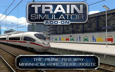 Train Simulator: The Rhine Railway: Mannheim - Karlsruhe Route Add-On (для ПК, цифровой ключ)