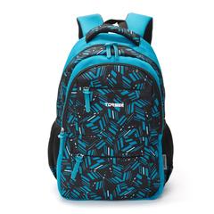 Рюкзак Torber Class X 15,6'', голубой с орнаментом, 45x30x18 см, 17 л