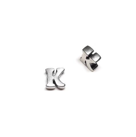 Alphabet letter K, sterling silver
