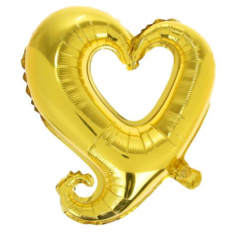 Шар-сердце витое золото, 82 см