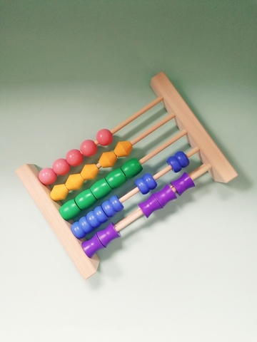 Счеты детские пастельные фигурные бусины