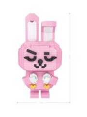 Конструктор LOZ Розовый Кролик 880 деталей NO. 9239 Pink Pabbit iBlockFun Series