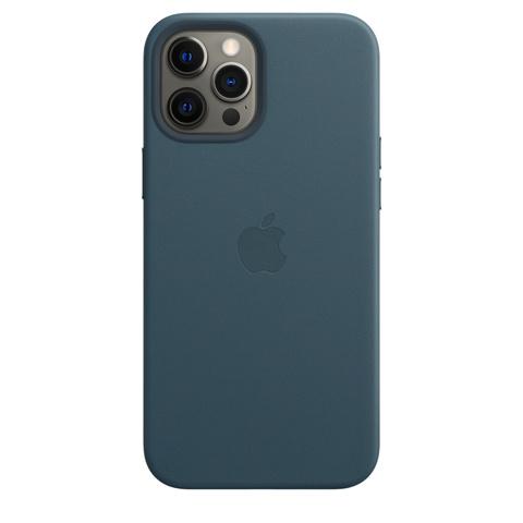 Apple Leather Case на iPhone 12 Pro Max (Балтийский синий)