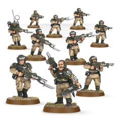Cadian Infantry Squad. Весь отряд