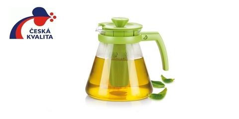 Чайник TEO 1.25л, с ситечками для заваривания, оранжевый