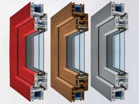 Профиль WINTECH-60 , однокамерный, цветной