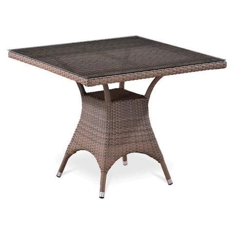 Плетеный стол T220BG-W1289-90x90 Pale