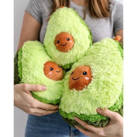 Мягкая игрушка авокадо плюшевая 20 см зелёная