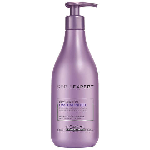 Шампунь для разглаживания непослушных волос, L'Оreal Professionnel Serie Expert Liss Unlimited Prokeratin Shampoo, 500 мл.