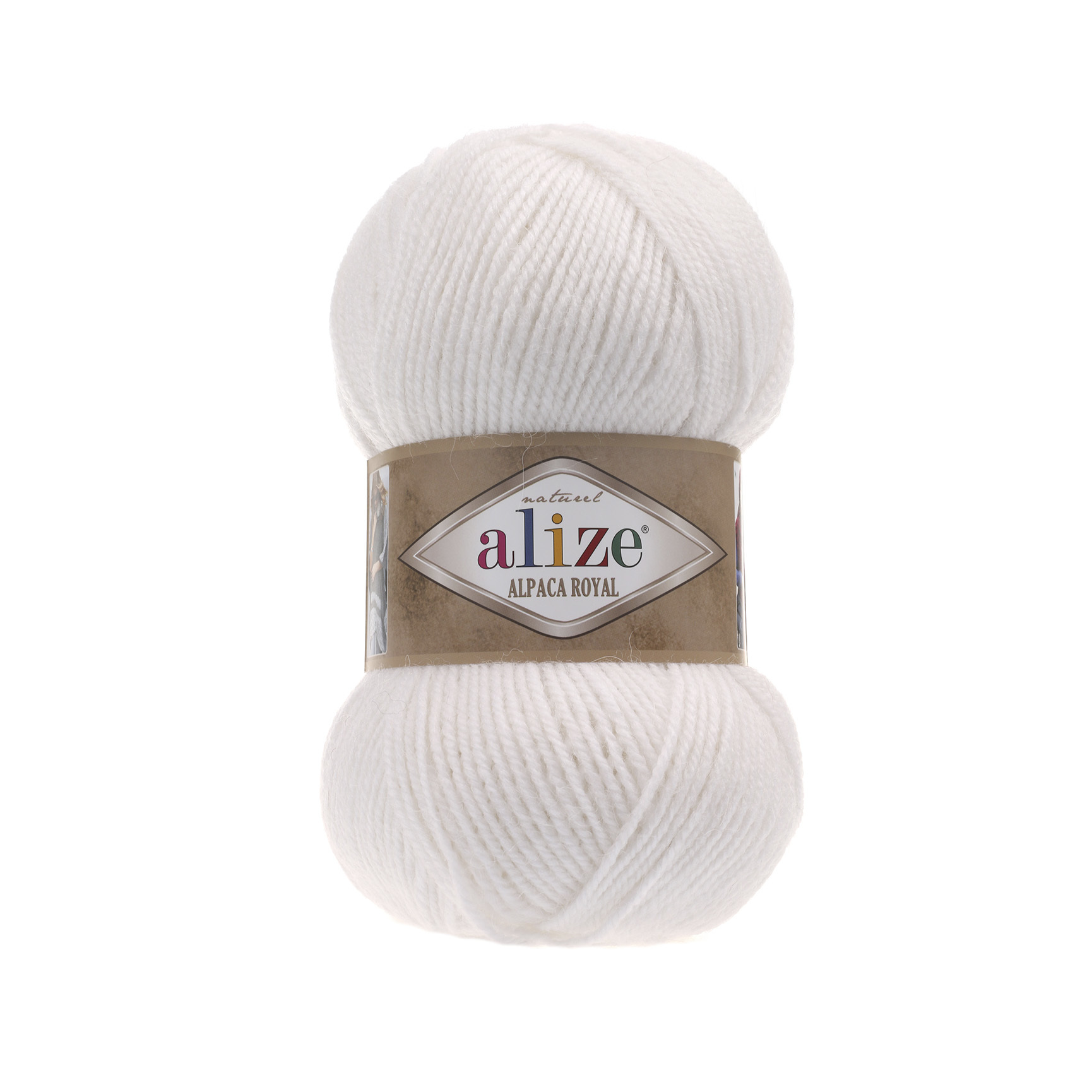 Пряжа Alize Alpaca Royal белый 55
