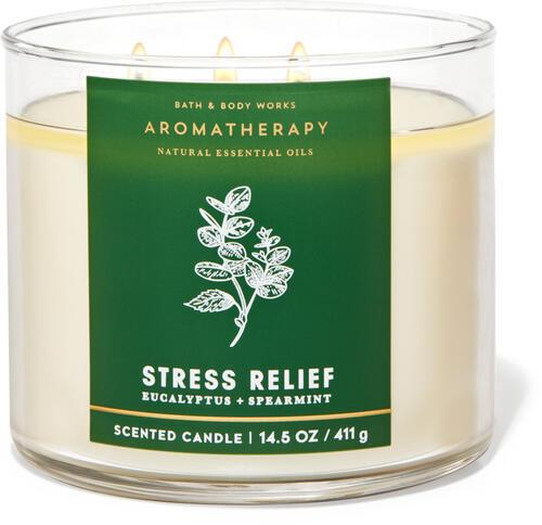 Свеча  Bath&BodyWorks Aromatherapy Eucalyptus + Spearmint 411 г.