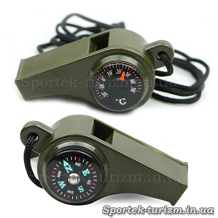 Свисток з компасом і термометром