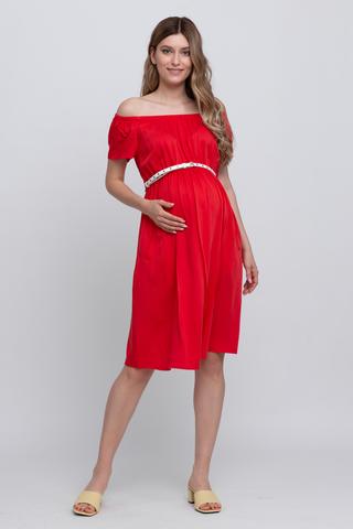 Платье для беременных 12589 красный