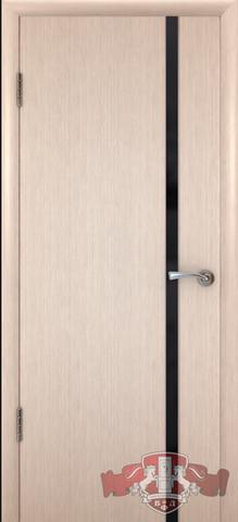 Дверь 8ДГ5 чёрн. Трипл. (беленый дуб, глухая шпонированная), фабрика Владимирская фабрика дверей