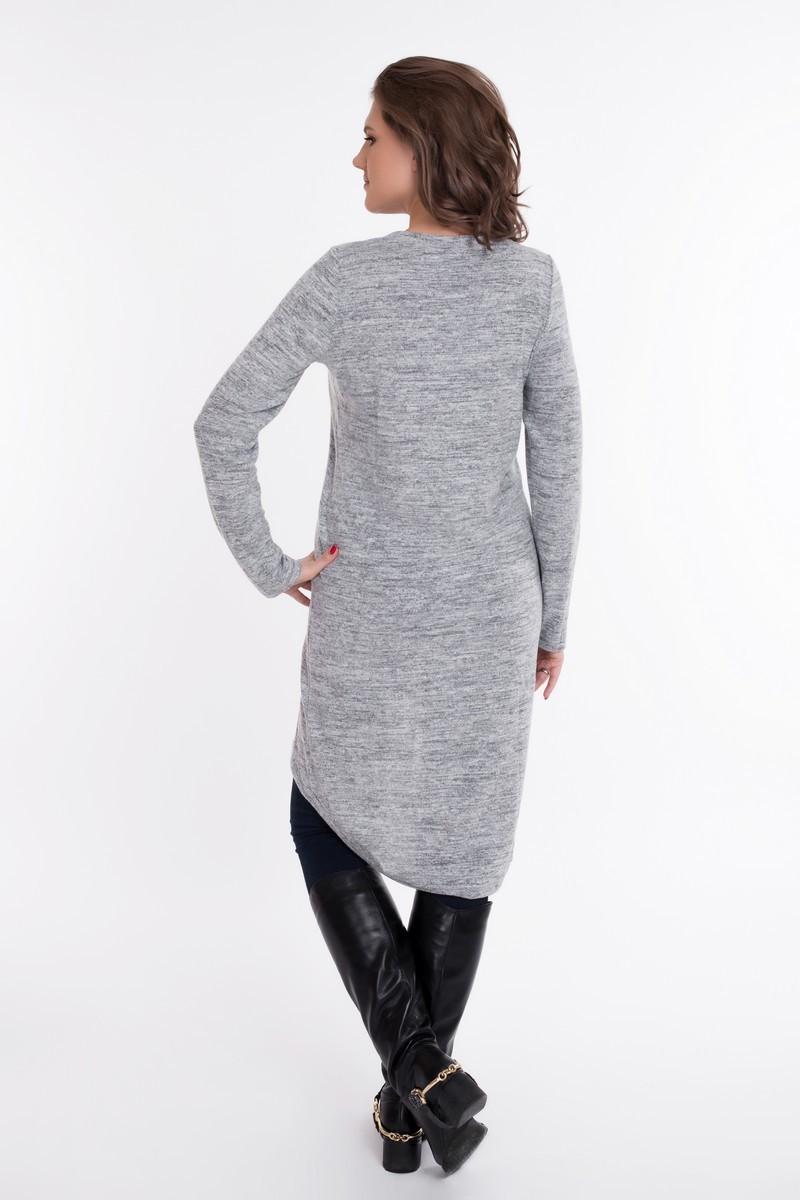 Туника для беременных 09063 серый