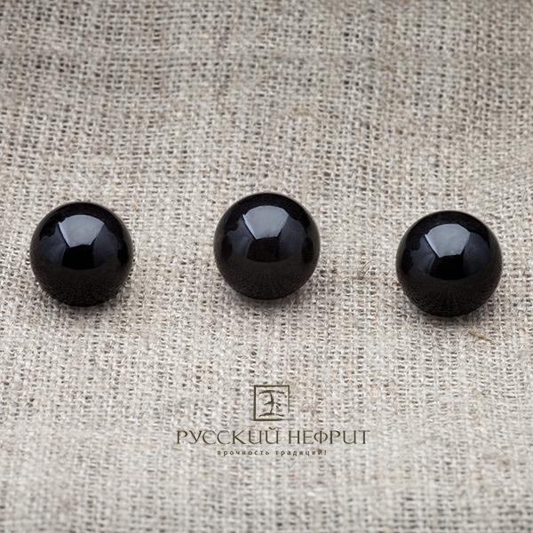 Вставки Шарик 12мм. Чёрный нефрит (класс модэ). businy_chern_12.jpg