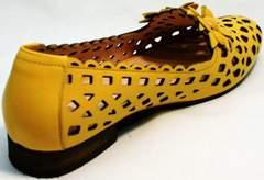 Туфли босоножки с закрытой пяткой и закрытым носком женские Phany 103-28 Yellow.