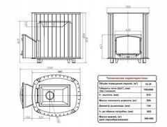 Печь Калита Дружина (Дверка - Нержавеющая сталь)