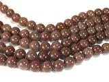 Нити бусин из авантюрина пурпурного, шар гладкий 10мм (оптом)