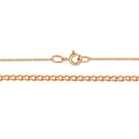 Серебряная цепь с позолотой