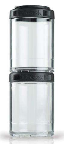 BlenderBottle GoStak 2 Контейнера по 150мл для перекусов и еды из безопасного пищевого пластика Тритан