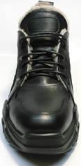 Красивые черные кроссовки с мехом внутри женские Studio27 547c All Black.