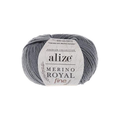 Alize Merino Royal Fine темно-серый 87