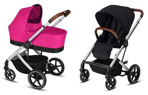 Детская коляска Cybex Balios S Fancy Pink + Balios S Lux SLV