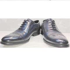 Классические мужские туфли кожа Ikoc 3805-4 Ash Blue Leather.