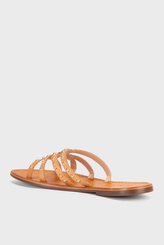 Женские бежевые сандалии Schutz
