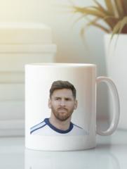Кружка с изображением Лионель Месси (Lionel Messi) белая 003