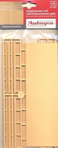 Кирпичные стены и канты - жёлтые, (H0)