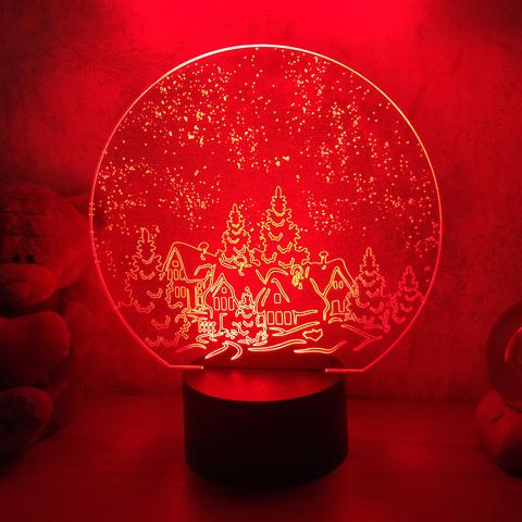 3D светильник Зимняя ночь