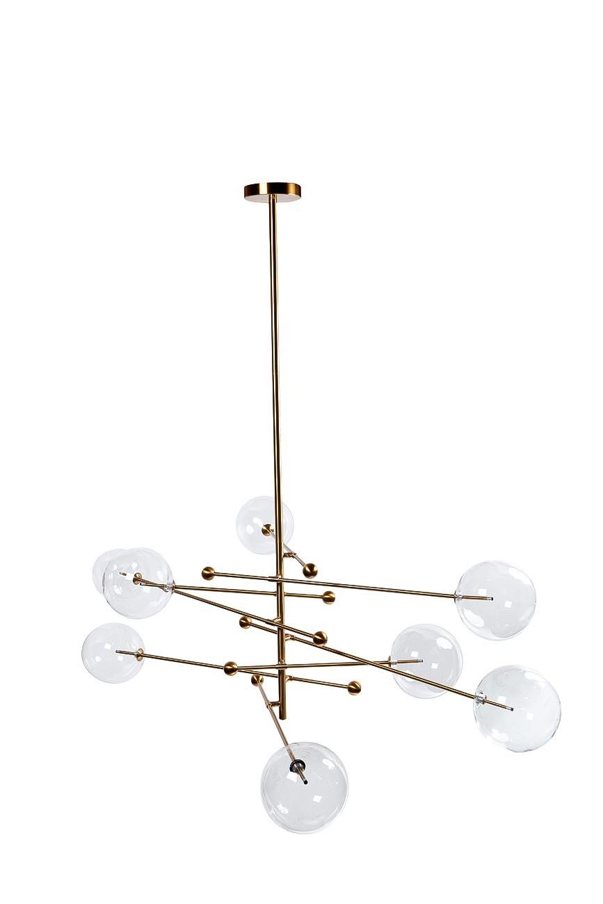 K2KG0835P-8BR Светильник потолочный, каркас латунь Ш160*В150см