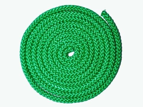 Скакалка гимнастическая, цветная ткань. Длина 3 метра. Цвет зелёный. :(АВ251):