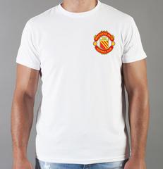 Футболка с принтом FC Manchester United (ФК Манчестер Юнайтед) белая 0018