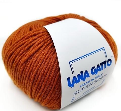Пряжа Lana Gatto Supersoft 14524 апельсин