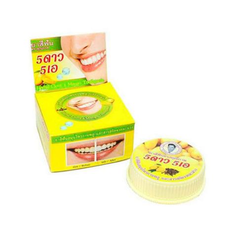 Зубная паста 5 Star Cosmetic отбеливающая с экстрактом манго 25 гр