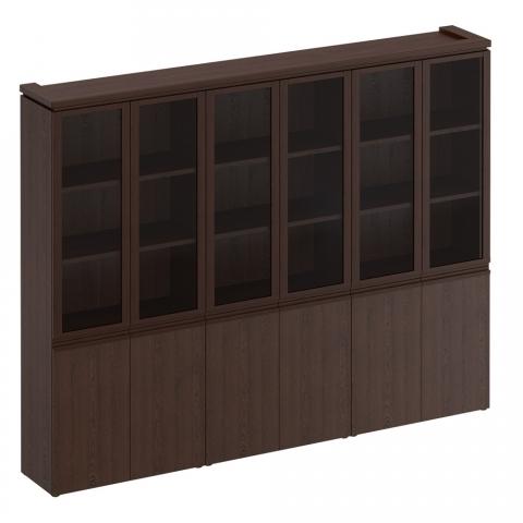 МК 378 Шкаф для документов со стеклянными дверями