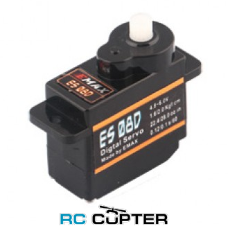Сервопривод EMAX ES08D (1.6-2.0 кг/см, 0.12-0.10 сек/60°, 8.6г)
