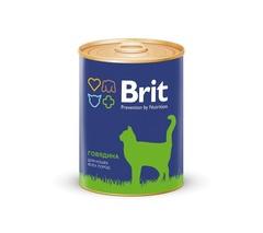 Консервы для котят, Brit Premium, с говядиной