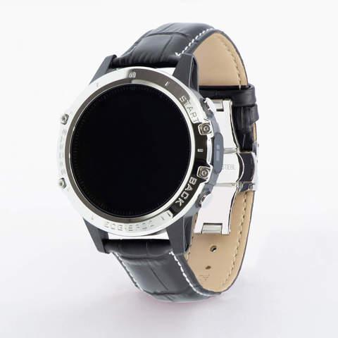 Профессиональные часы здоровья с измерением кислорода (сатурации), давления, снятием ЭКГ и круглосуточным мониторингом пульса Dr.Hofner DH50 (глянцево-чёрный)