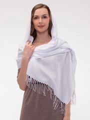 Шарф женский белый aksisur теплая пашмина 040