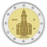 Германия 2015 год 2 евро Гессен двор D   UNC из ролла, Федеральные земли Германии