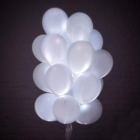 Светящиеся воздушные шары белые